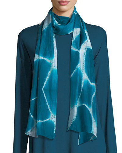 Eileen Fisher Spatial Silk Shibori Scarf and Matching