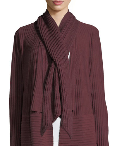 Eileen Fisher Wool Pull-Through Scarf