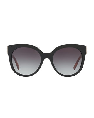 Image 2 of 2: Gradient Butterfly Buckle Sunglasses
