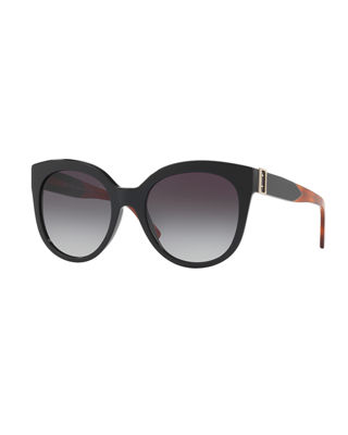 Image 1 of 2: Gradient Butterfly Buckle Sunglasses