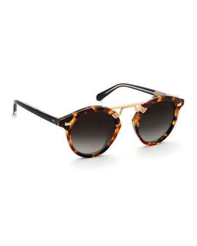 St. Louis II Two-Tone Round Acetate Sunglasses