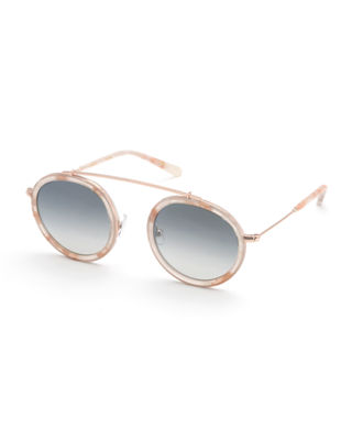 KREWE Conti Mirrored Aviator Sunglasses, Rose