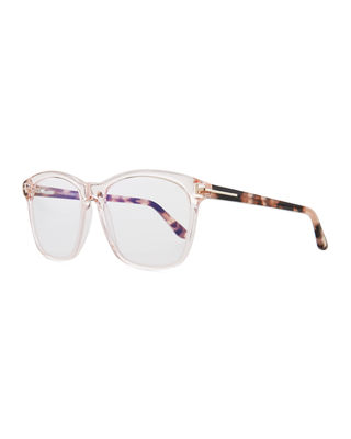 TOM FORD Blue Block Two-Tone Transparent Acetate Square