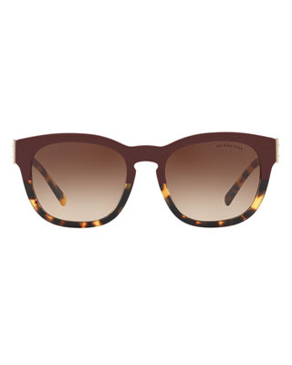 Image 2 of 2: Two-Tone Square Gradient Sunglasses