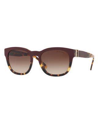 Burberry Two-Tone Square Gradient Sunglasses