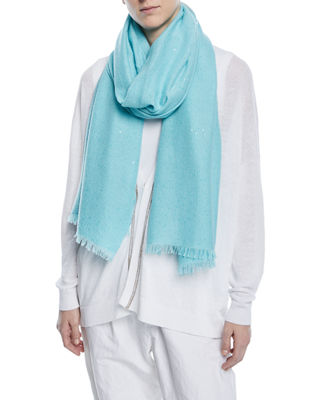 Image 3 of 3: Cashmere-Silk Paillette Scarf