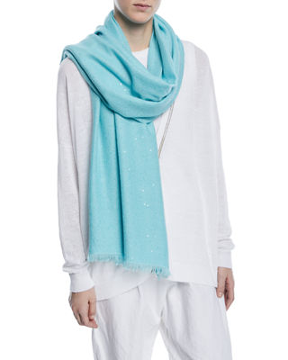Image 1 of 3: Cashmere-Silk Paillette Scarf