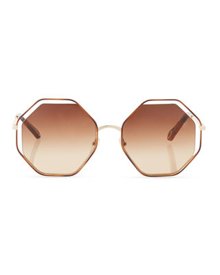 Image 3 of 4: Poppy Geometric Sunglasses