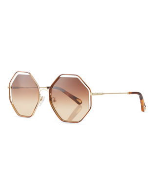 Image 1 of 4: Poppy Geometric Sunglasses