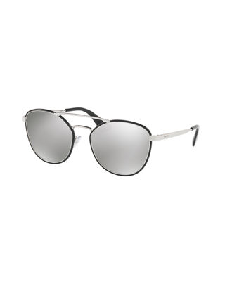 Prada Gradient Curved-Brow Square Sunglasses