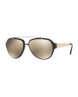 Versace Mirrored Aviator Sunglasses