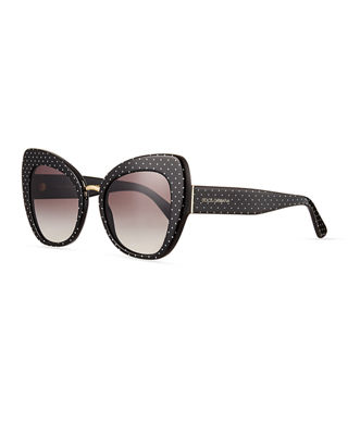 Dolce & Gabbana Peaked Cat-Eye Acetate Sunglasses