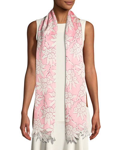 Rododendro Re-Edition Floral Silk Stole