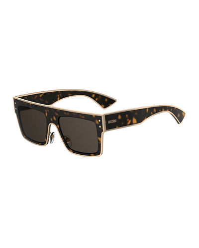 Square Two-Tone Acetate Sunglasses