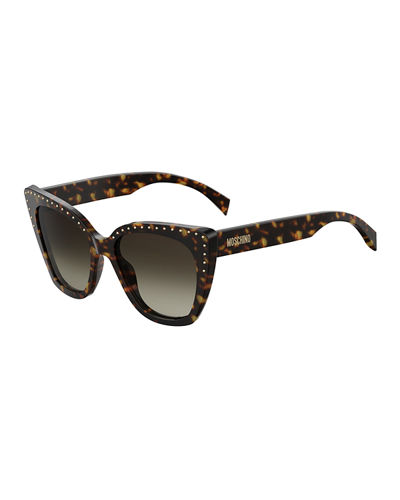 Cat Eye Studded Gradient Sunglasses