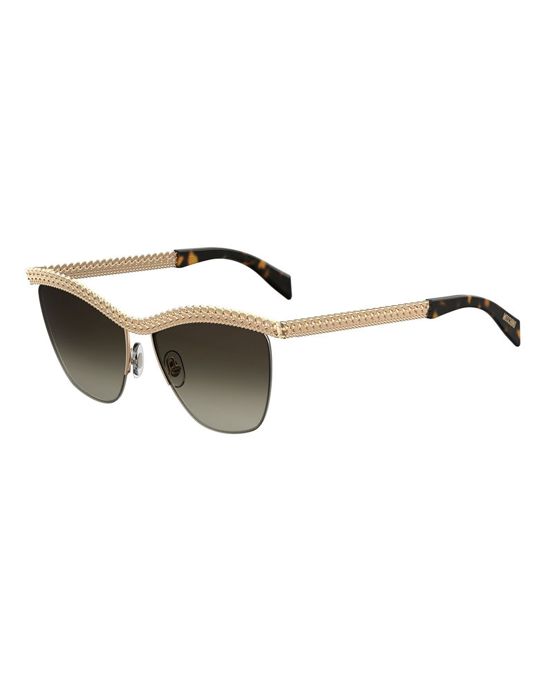 Moschino Curb-Chain Gradient Sunglasses