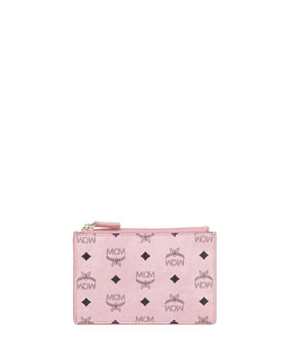 Canvas Logo Mini Key Pouch Bag, Light Pink