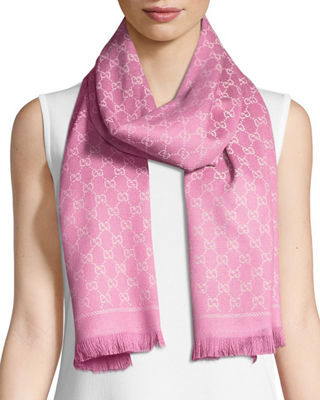 Gucci Reversible Wool Stencil Scarf