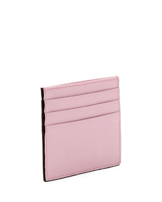 F Logo Calf Leather Card Case
