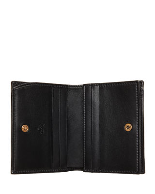 Image 4 of 4: GG Marmont Quilted Leather Flap Card Case