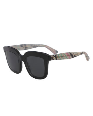 Etro Square Sunglasses w/ Paisley Arms
