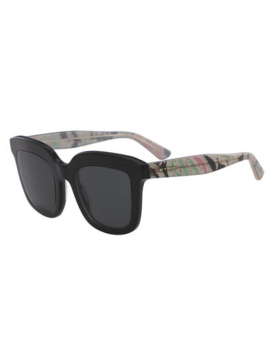 Square Sunglasses w/ Paisley Arms