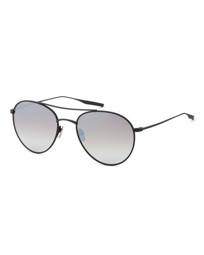 Titanium Round Polarized Sunglasses