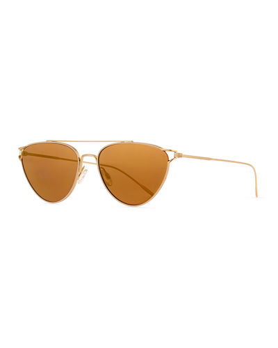 Floriana Cat-Eye Metal Sunglasses