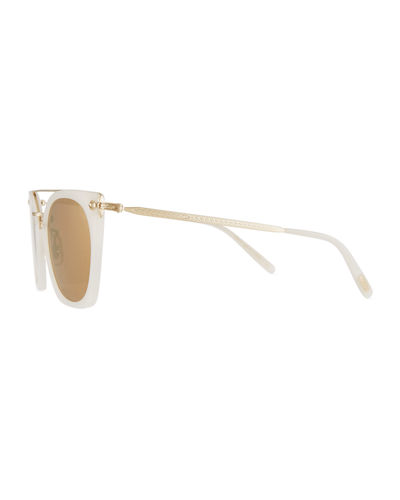 Dacette Mirrored Cat-Eye Sunglasses