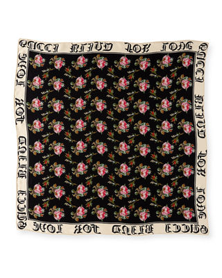 "Image 2 of 3: Foulard ""Blind for Love"" Silk Scarf"