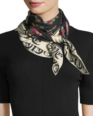"Image 3 of 3: Foulard ""Blind for Love"" Silk Scarf"