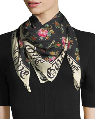 "Foulard ""Blind for Love"" Silk Scarf"