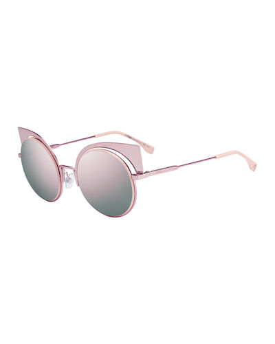 Runway Mirrored Cutout Sunglasses