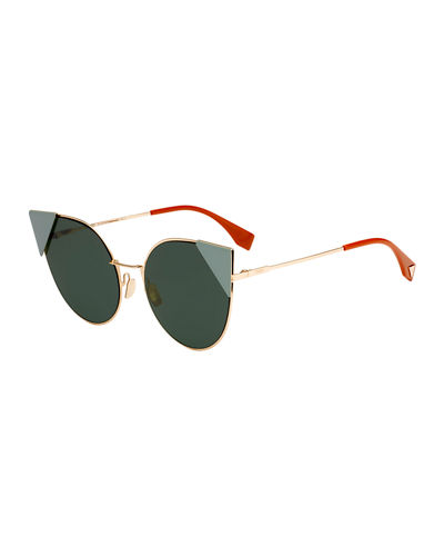 Lei Monochromatic Cat-Eye Sunglasses