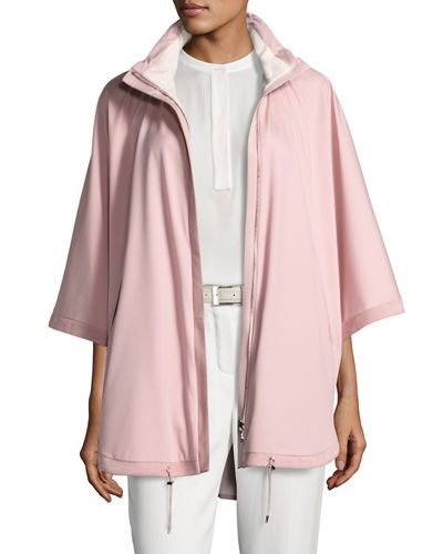 Vail Reversible Tech-Fabric & Cashmere Cape