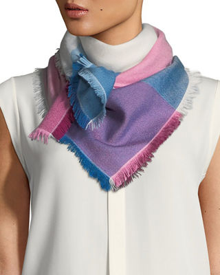 Image 1 of 3: Alba Cashmere-Blend Square Scarf