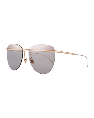 Tallulah Rimless Aviator Sunglasses