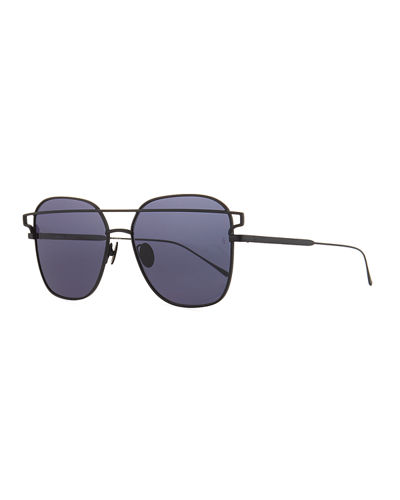 Jesse Illusion Square Metal Sunglasses