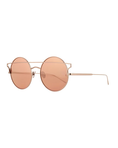 Matilda Illusion Round Metal Sunglasses
