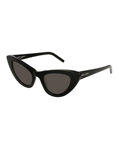 Lily Cat-Eye Acetate Sunglasses, Black