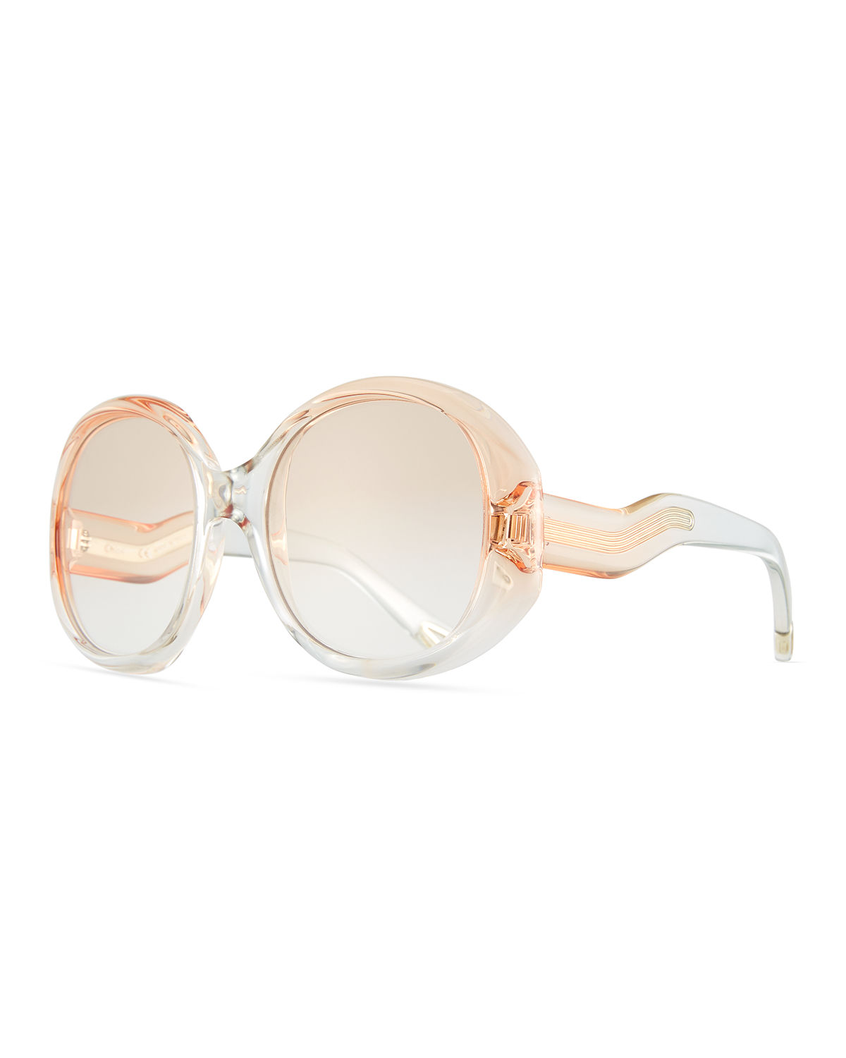 c494b6eab4a Chloe Qleo Semi-Transparent Oval Sunglasses