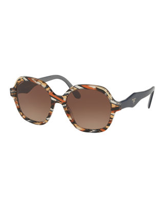 Square Patterned Acetate Sunglasses
