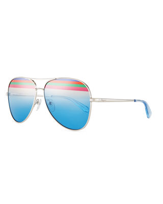 Salvatore Ferragamo Rainbow Aviator Sunglasses