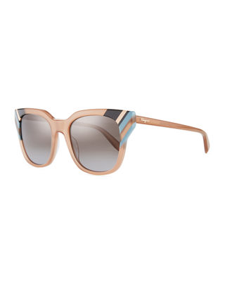 Colorblock Square Sunglasses