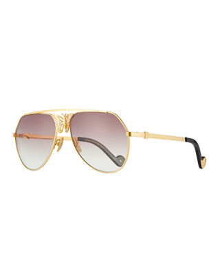 Anna-Karin Karlsson Miss Rosell Gradient Aviator Sunglasses w/