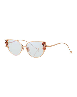 Anthyllis Optical Frames W/ Swarovski Crystal Details in Rose Gold