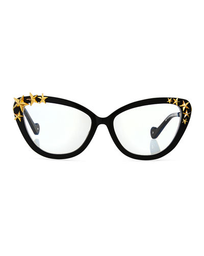Lily Love Nouveau Acetate Optical Frames w/ 3D Star Trim
