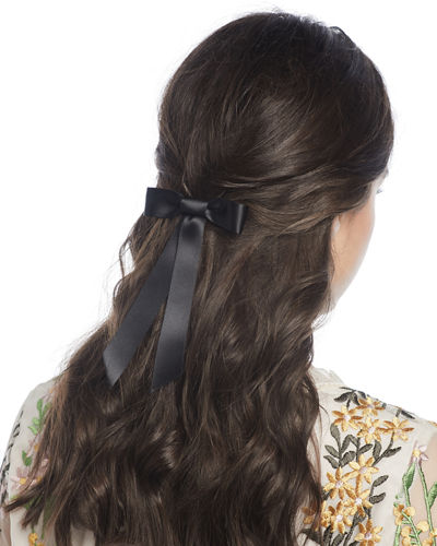 Silk Satin Bow Barrette