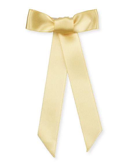 Image 2 of 2: Jennifer Behr Silk Satin Bow Barrette