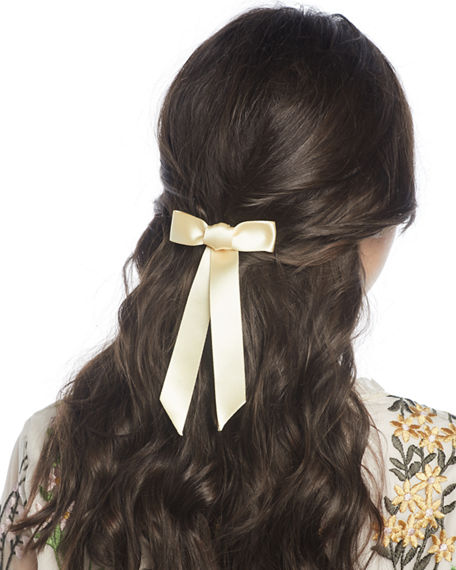 Image 1 of 2: Jennifer Behr Silk Satin Bow Barrette